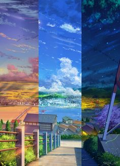 Atmospheric background by NIK Anime landscape Landscape Background, Art Background, Fantasy Landscape, Landscape Art, Aesthetic Anime, Aesthetic Art, Tokyo Anime, Anime Places, Anime Scenery Wallpaper