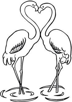 flamingo coloring page