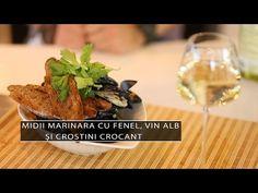 [Video] Midii marinara cu fenel, vin alb și crostini crocant   Cavaleria Baked Potato, Potatoes, Baking, Ethnic Recipes, Food, Potato, Bakken, Essen, Meals