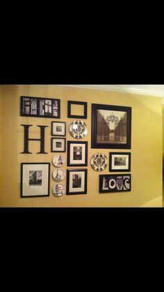 Picture wall Decor, Interior Decorating, Picture Wall, Eclectic Home, Living Room Decor, House Styles, Wall, Wall Spaces, Decor Lighting
