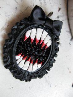 Monstrosity Teeth Necklace OOAK by DahliaDeranged on Etsy, $30.00