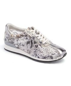 Another great find on #zulily! Black & Silver Camouflage Lexana Sneaker #zulilyfinds