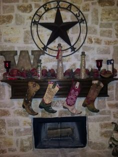 western christmas mantle