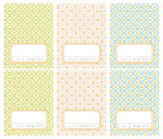 PRINTABLE Spring Note Cards and Place Cards