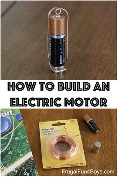 Learn about electricity with this simple science project for kids – Use a battery, a magnet, and some copper wire to build your own electric motor that really spins! This post contains Amazon affiliate links. This is a project that I have been wanting to try for some time, so when it came up in our …