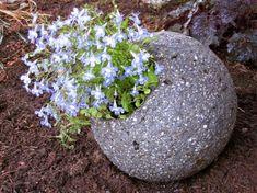 Hypertufa Ball planter | Garden