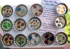 sea glass craft-magnets
