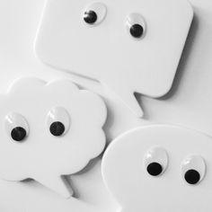 Gespenster Magnete zu Halloween von nadelfein und kringelbunt selbstgemacht ♥ #halloween #deko