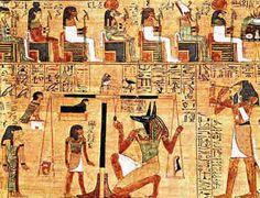 Na sociedade egípcia da antiguidade, o deus Hórus, o deus do falcão, é um típico exemplo de antropozoomorfismo, filho de Ísis e Osíris, cultuado como o sol nascente. Ísis é uma deusa de caráter humano, foi esposa de Osíris, mãe de Hórus, protegia a vegetação e era a deusa das águas e das sementes. Já Osíris era deus dos mortos, tinha também uma figura humana, era deus também da vegetação e da fecundidade, era representado pelo rio Nilo.