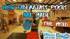 How Fiberglass Pools Are Made; The Mold; Part 1 of 8 Fiberglass Swimming Pools, Wave Pool, Design, Fiberglass Pools