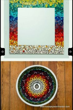Bacha y espejo                                                       … Mirror Mosaic, Mosaic Art, Mosaic Glass, Glass Art, Sea Glass, Mosaic Designs, Mosaic Patterns, Pattern Art, Stained Glass Birds
