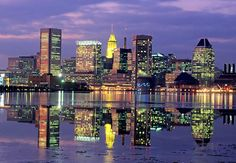 Downtown Baltimore Skyline. Felt great to be back there this week. Miss this great city.