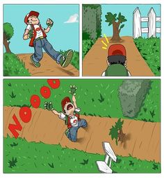 "Exactly! Whenever I came to a tree without cut I would be like, ""Can't my pokemon just trample it or something?"""