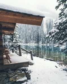 A Cosy Lake-side Cabin The Places Youll Go, Places To Go, Haus Am See, Winter Scenery, Cabins In The Woods, Adventure Is Out There, Photos, Pictures, The Great Outdoors