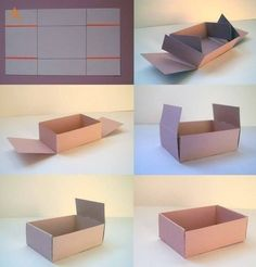 Caja de papel madera