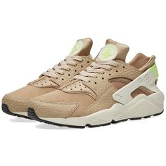 Nike Air Huarache Run Premium ($73) ❤ liked on Polyvore featuring men's fashion, men's shoes, men's athletic shoes, mens camo shoes, nike mens shoes, nike mens athletic shoes, mens perforated shoes and mens green shoes