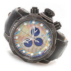 ec266ba8e60 Invicta Reserve 52mm Venom Empire Swiss Made Quartz Chronograph Leather  Strap Watch Invicta Reserve Venom