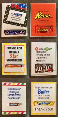 Easy parent volunteer gift its been such a treat to have you as a 7 free childrens ministry candy bar volunteer appreciation notes negle Choice Image