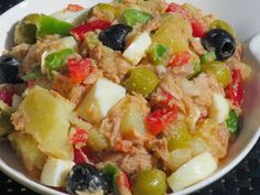 Ana Sevilla Salad jacket with Thermomix Salad Recipes, Diet Recipes, Vegan Recipes, Cooking Recipes, Tapas, Good Food, Yummy Food, Mets, Savoury Dishes