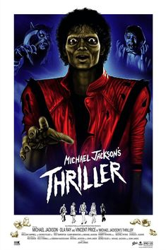 Michael Jackson Kunst, Badass Movie, John Landis, Michael Jackson Thriller, Elmer Bernstein, Vincent Price, The Jacksons, Classic Monsters, Alternative Movie Posters