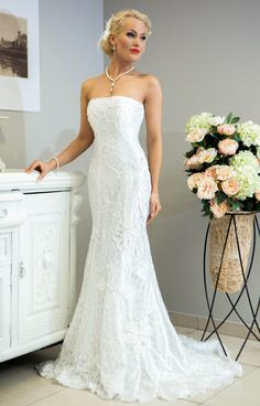 Miss Evita crochet wedding dress by LaimInga on Etsy, $999.00