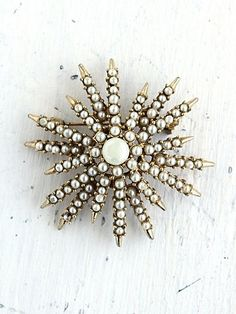 pearl pins | Vintage Faux Pearl Snowflake Pin | Accessories {Jewelry}