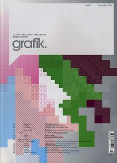 Grafik: Issue 124, via graphic design layout, identity systems and great type lock-ups.