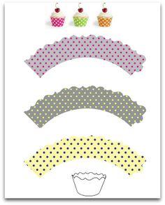 Polka Dots | Printable Cupcake Wrappers