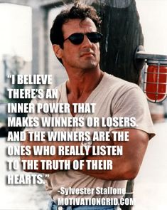 Sylvester Stallone, Inspirational, Celebrity Quotes