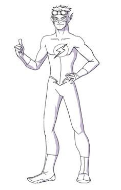 Young Justice: Kid Flash: How to Draw Kid Flash Lineart by Caddaren
