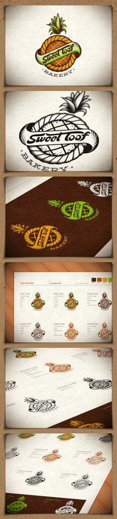 Sweet Toof bakery identity - FINAL. Really like this logo a lot. Creative, si | #corporate #branding #creative #logo #personalized #identity #design #corporatedesign < repinned by www.BlickeDeeler.de | Have a look on www.LogoGestaltung-Hamburg.demple very nice.