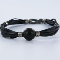Headphones, Bracelets, Leather Bracers, Black Leather, Fashion Bracelets, Men's Leather, Man Women, Silver, Crystals