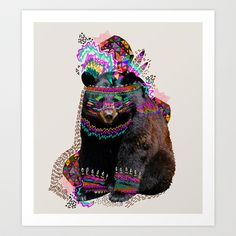 Ohkwari Art Print by Kris Tate -- Rave Bear