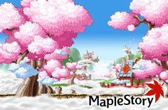 MapleStory Cherry Blossoms by iChicken