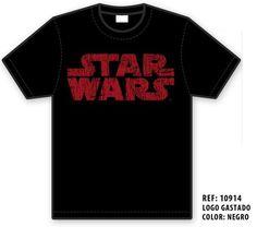 Camiseta Star Wars Logo Rojo, el lado oscuro de la fuerza #regalo #arte #geek #camiseta