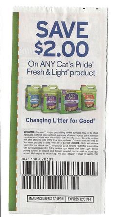 Cat's Pride Fresh & Light Product - $2.00 on ONE (1) - 12/31 - (10)