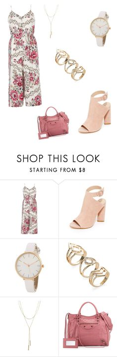 """""""Rose"""" by catia-santos on Polyvore featuring River Island, Kendall + Kylie, Bloomingdale's and Balenciaga"""