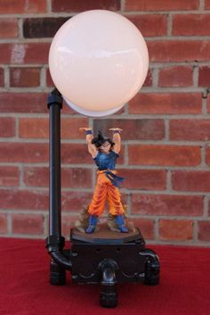 The original goku spirit bomb dragon ball z lamp, or son goku lamp. Find out where buy this piece of dragon ball z merchandise. Old Dragon, Dragon Ball Z, Make A Lamp, Geek Decor, Gamer Room, Pipe Lamp, Light Decorations, Table Lamp, Bulb