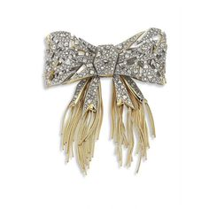 Alexis Bittar Crystal Mosaic Lace Bow Brooch ($465) ❤ liked on Polyvore featuring jewelry, brooches, apparel & accessories, vintage brooches, vintage crystal brooch, crystal brooch, swarovski crystal jewelry and vintage jewellery