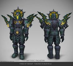 Corrupted paladin plate armorset I worked on for World of Warcraft Warlords of Draenor here is turntable with FX I did as well as some color va. Warcraft Art, World Of Warcraft, Warlords Of Draenor, Dark Warrior, Hand Painted Textures, Creature Concept Art, Dark Souls, Paladin, Texture Painting