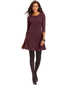 Style&co. Plus Size Ribbed Sweater Dress