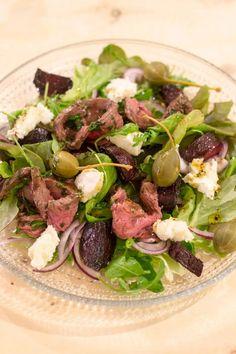 Paahtopaistisalaatti – Keittiössä, kotona ja puutarhassa | Meillä kotona Cobb Salad, Beef, Meat, Steak