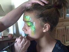 Wintergreen Fairy Face Painting Tutorial   Curlie's Face Art & Michigan Face Painters