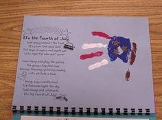 Katies Nesting Spot: Handprint Fourth of July Print Calendar, Kids Calendar, Calendar Ideas, Preschool Calendar, Monthly Planner Printable, Printable Calendar Template, Independance Day, Handprint Art, Kids Hands