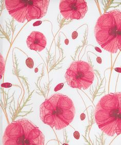 Simply beautiful!    Hannah's Poppy A Tana Lawn, Liberty Art Fabrics. Shop more from the Liberty Art Fabrics collection online at Liberty.co.uk