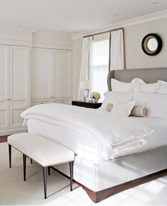 love this #headboard and how light and airy this bedroom is colleen mcgill