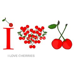 Cherries | love cherries vector 839076 - by Chantall