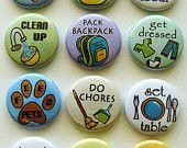 Etsy: Chore magnets