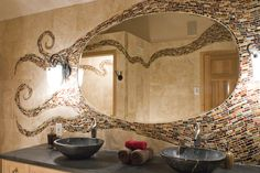 Mosaic mirror design.