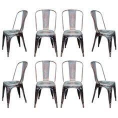 Shop side chairs and other antique and modern chairs and seating from the world's best furniture dealers. Side Chairs, Dining Chairs, Dining Room, Industrial Cafe, Industrial Style, Black Metal Chairs, Rogue Wave, Bungalow Decor, Dinner Club